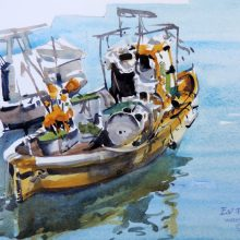 Fishing boat Lerici Italy