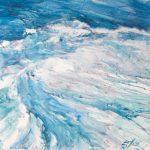 Water at oceans edge.
